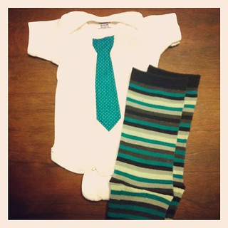 little man has a coming home outfit. now if he would just decide to bless us with his presence!