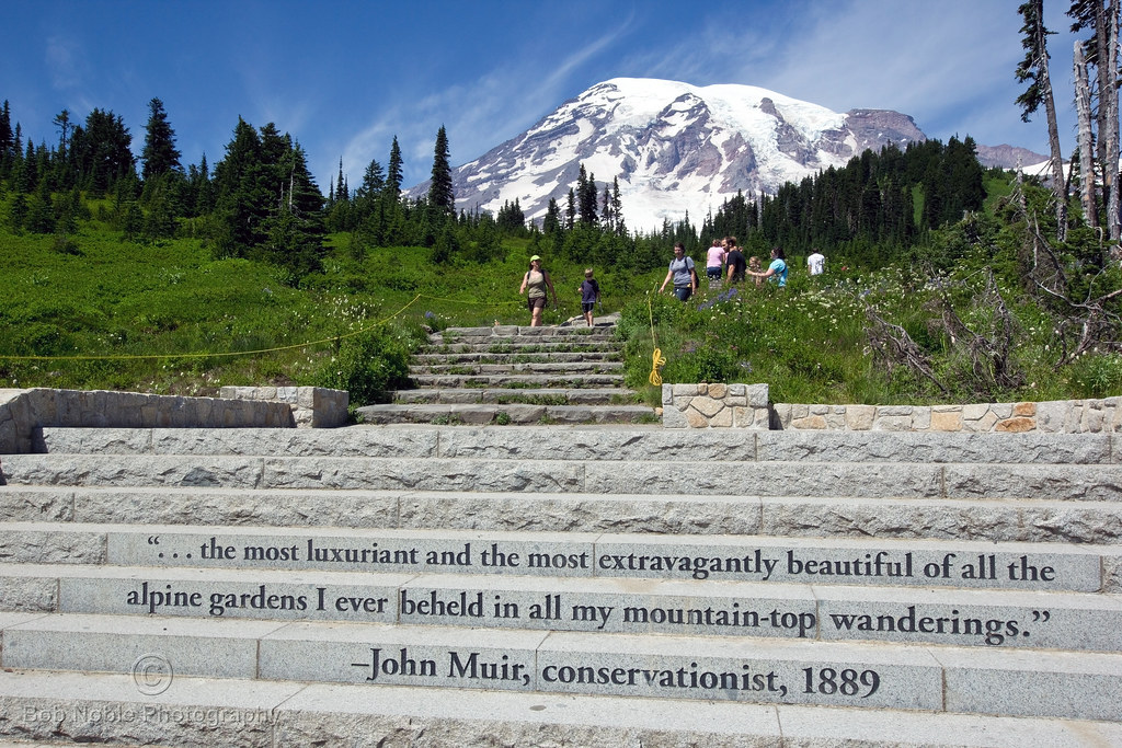 John Muir Quote At Paradise Mount Rainier National Park Flickr