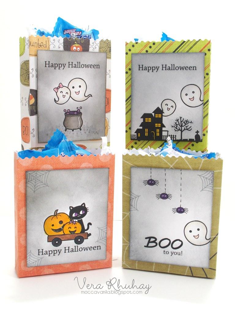 halloweeen mini treat bags set