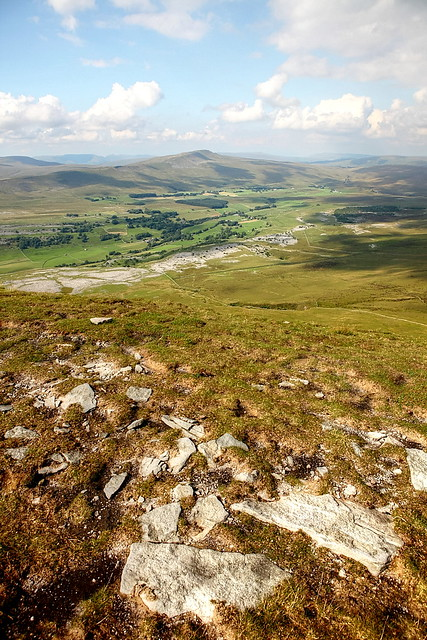 View back over Whernside in the Yorkshire Dales