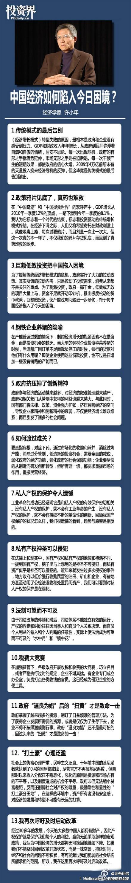 阅读更多关于《许小年,中国经济如何陷入今日困局》