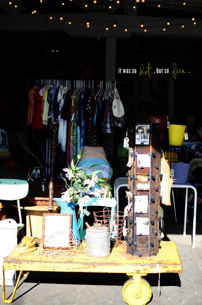 vintage sale with friends