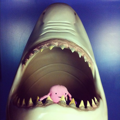 Sometimes Monday makes you feel like your uterus is being eaten by a shark. #uterusadventures #monday