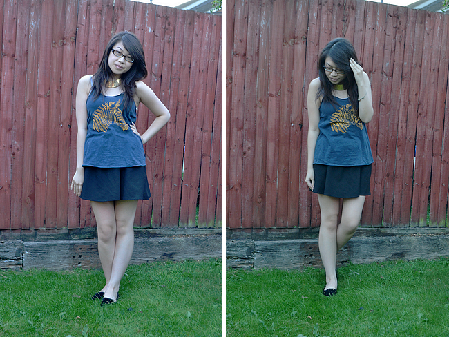 daisybutter - UK Style and Fashion Blog: what i wore, ootd, SS12, zara, realitee, topshop merlot slippers, high street fashion
