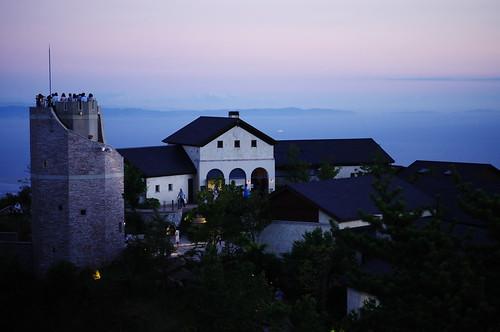 twilight scene at mountain