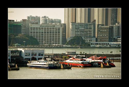 ferry terminal in Macau, China