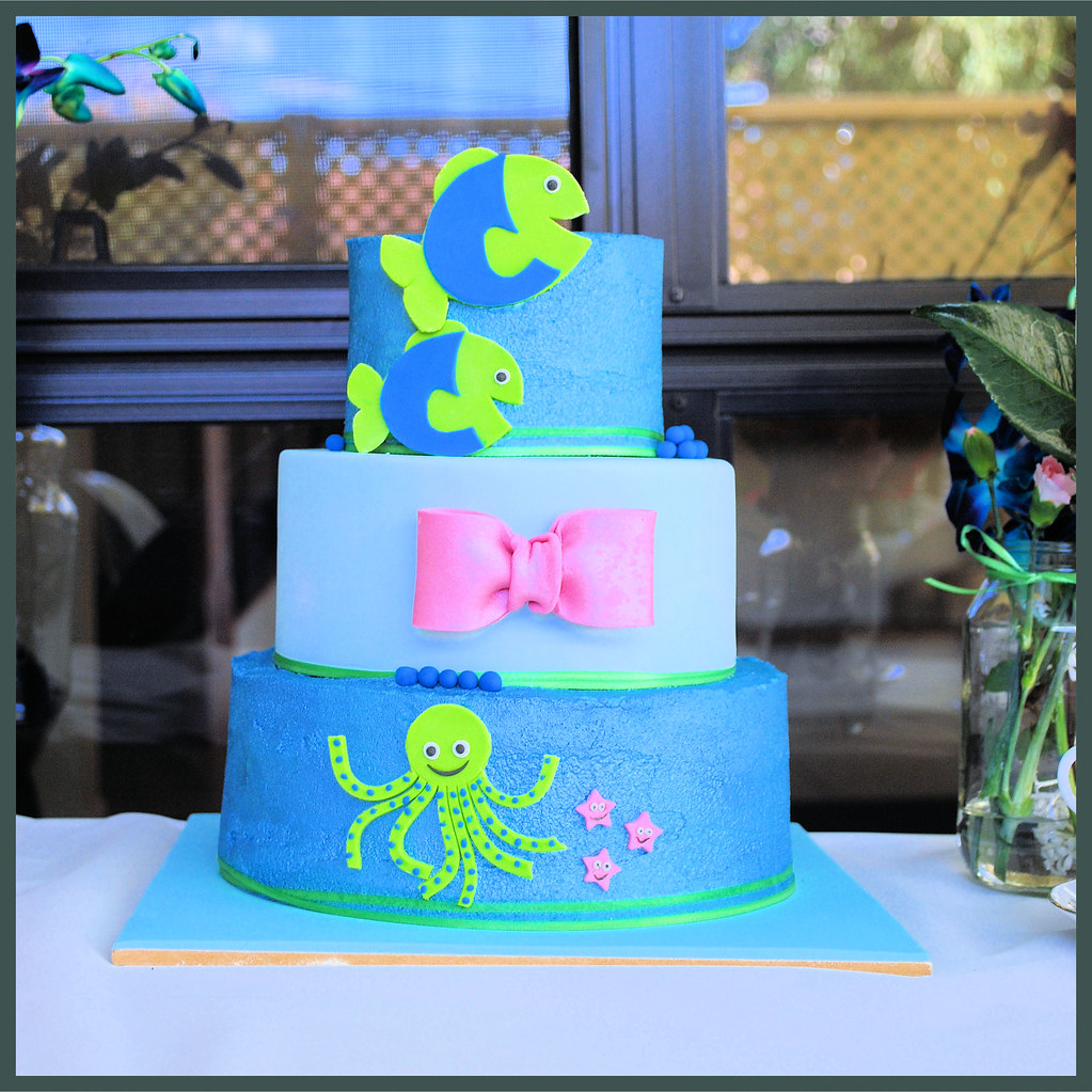 to match the invitations for an ocean themed high tea baby shower