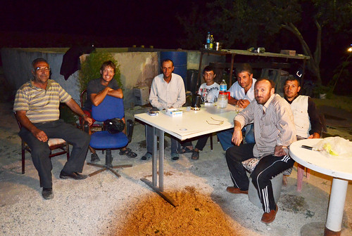 Dinner and cay with farmers