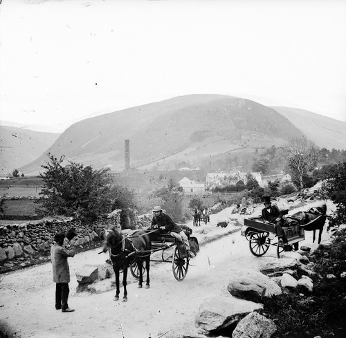 Glendalough before Round Tower was restored