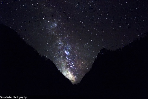 Milky Way from Mist Trail in Yosemite National Park
