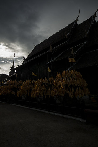 morning sunrise landscape thailand temple day silent cloudy flag buddhism chiangmai partly