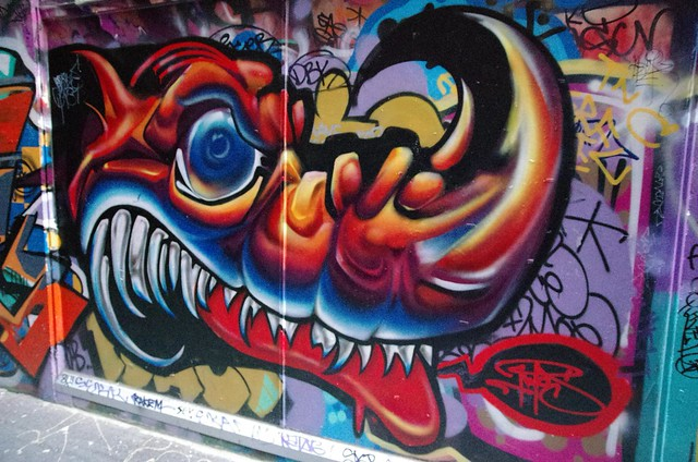 """Here Be Dragons"" - Melbourne Street Art"