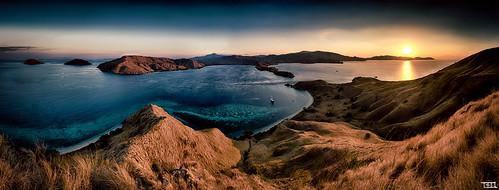 ocean sun indonesia landscape breathtaking komodo
