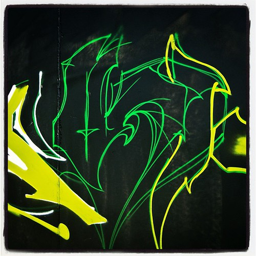 Nice green paint #graffiti #sketch at #graffalot artist unknown - Houston Graffiti