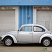 Volkswagon Bug in Front of Market - Oaxaca, Mexico