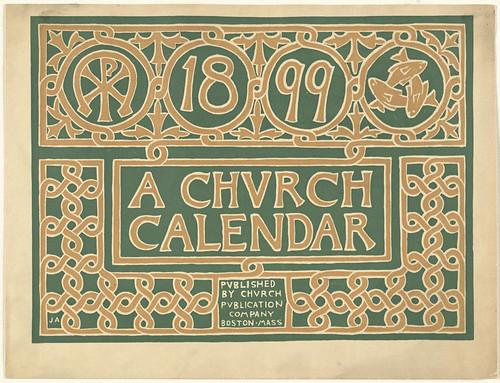 A church calendar 1899