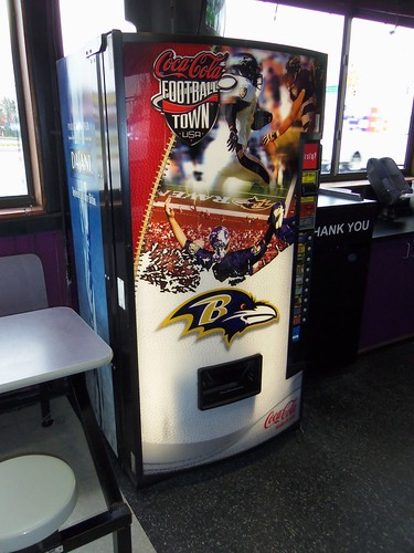 Baltimore Football Vending Machine by The Upstairs Room