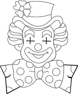 Branco Da Palhacos Do Circo Legais Desenhos Para Pintar De Palhacos Do