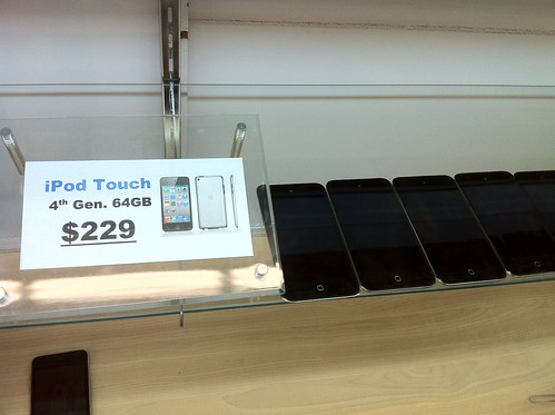 64 GB 4th Gen iPod Touch: $229