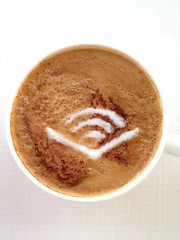 Today's latte, Audible.