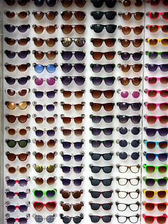 coloured shades