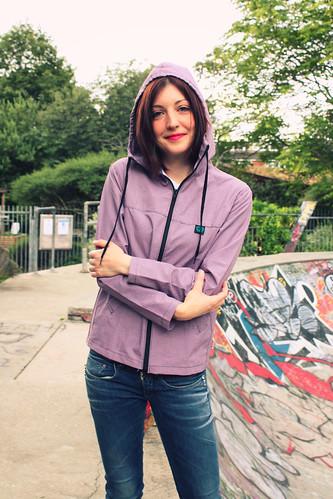 Queens Of Sounds Red Check Hoodie Open Zip Jumper - Susanna