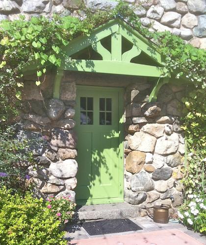 Green Doorway Willowdale Courtyard by randubnick