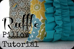 ruffle pillow button