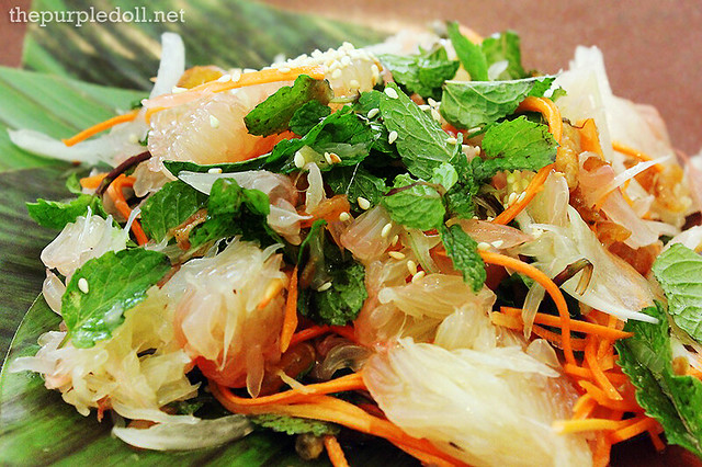 Pomelo Salad, Dried Shrimp and Mint Leaves