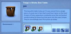 Twigs-n-Sticks End Table