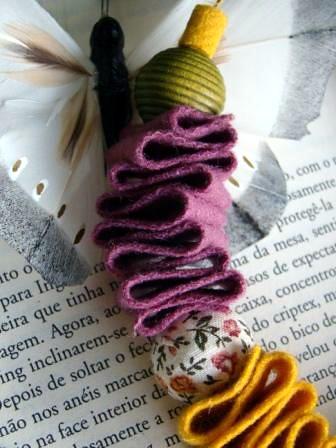 Detalhe colar autumn by kideias - Artesanato