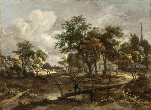 Meindert Hobbema - Los Angeles County Museum of Art M.2009.106.8. Landscape with a Footbridge (c. 1664-1665)