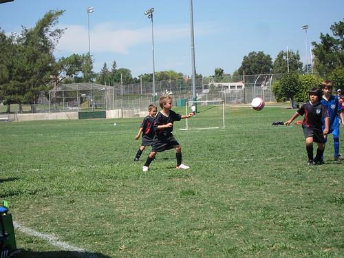 Ball coming at Ezra