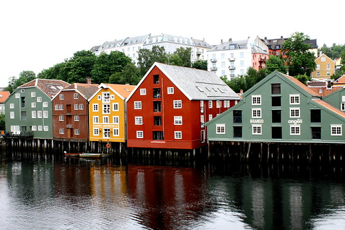 Old fishermen's houses in Trondheim