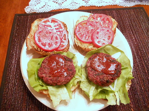 Smoky Bacon Bison Burgers