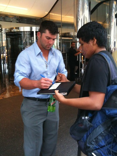 Baseball player Dan Uggla, near Grand Central Station