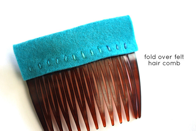 Fold Over Felt Hair Comb