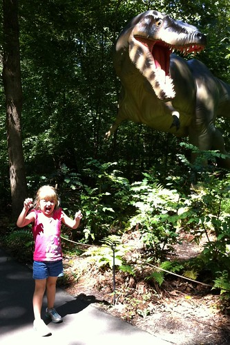 ROAR! Catie is a dinosaur!
