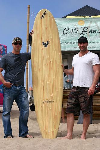 bamboo surfboard