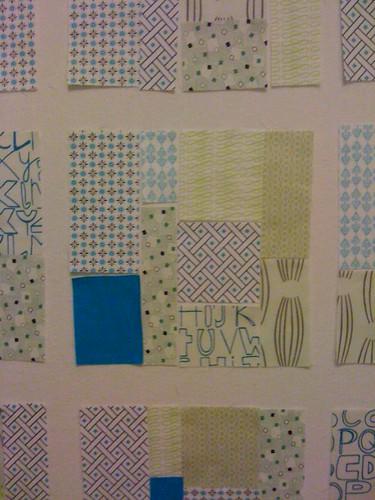 low volume tiles quilt wip