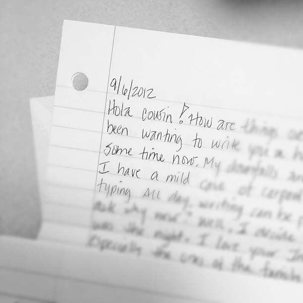 Love Quotes About Life: My Cousin Sent Me A Handwritten Letter! Glad I Could