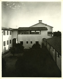 Courtyard of Clark Hall in 1929