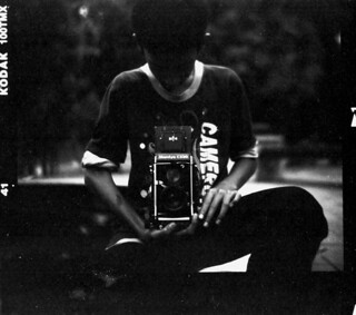 A junior member with his Mamiya C330 TLR