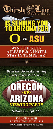Oregon Ducks vs Arizona @ Thirsty Lion