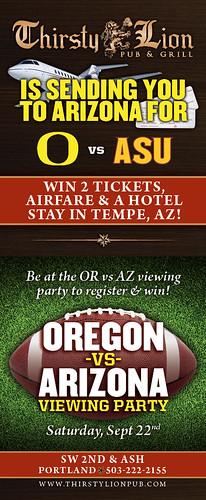 Oregon Ducks vs Arizona @ Thirsty Lion