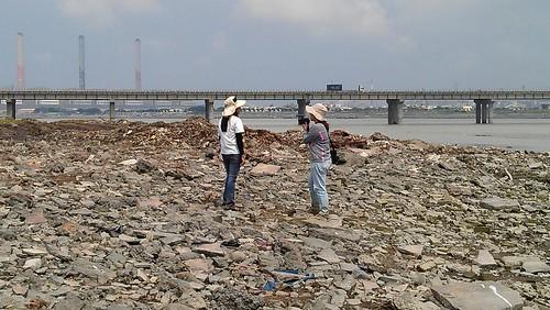 9月10日污染現場,宛如火星地表(吳仁邦攝)