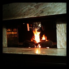 By the fire...