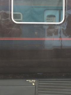 arriva train reflected in royal train