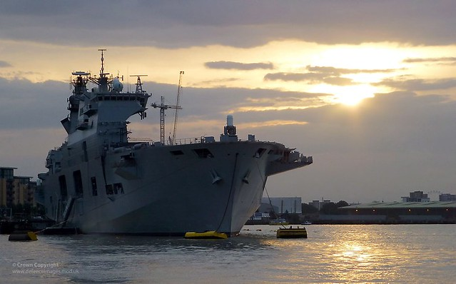HMS Ocean Moored in London for Olympic Games