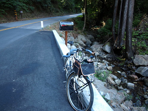Taking a rest on Eureka Canyon Road